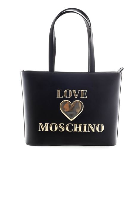 Love Moschino shopping padded heart nero LOVE MOSCHINO | Borse a spalla | 4030PELLE-000