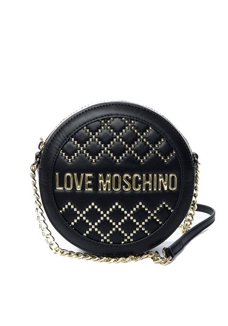 Tracolla woven gold studs nero LOVE MOSCHINO | Borse mini | 4052QUILTED-000