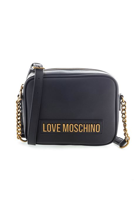 Love Moschino tracolla zip lettering nero LOVE MOSCHINO | Borse mini | 4071PELLE-000