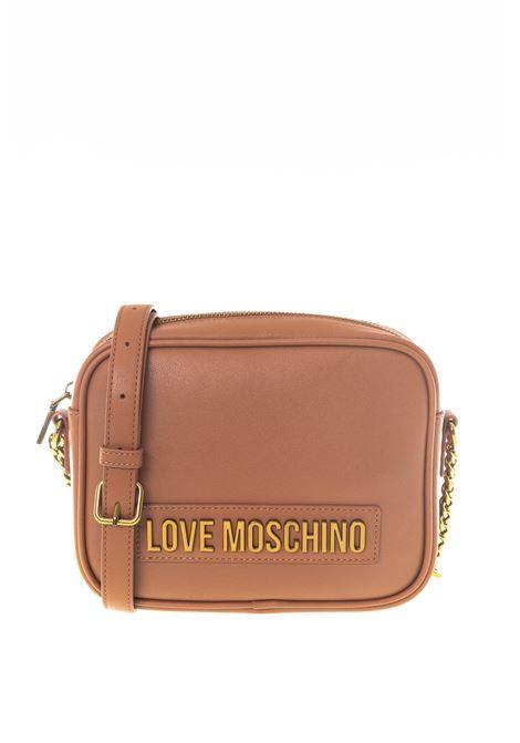 Tracolla zip lettering cuoio LOVE MOSCHINO | Borse mini | 4071PELLE-200