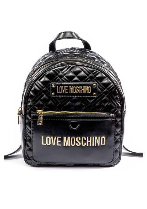 Zaino matelassé logo nero LOVE MOSCHINO | Zaini | 4202QUILTED-000