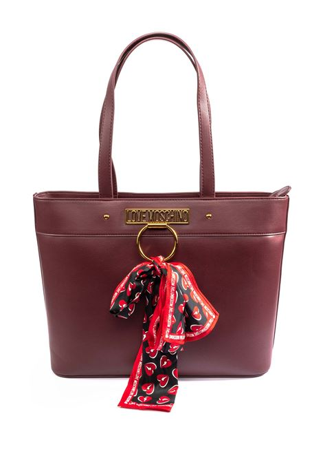 Shopping logo bordeaux LOVE MOSCHINO | Borse a spalla | 4232PELLE-552