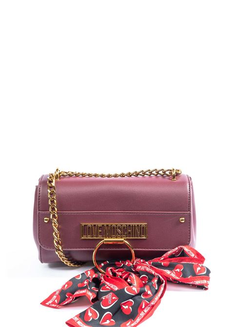 Love Moschino tracolla logo bordeaux LOVE MOSCHINO | Borse mini | 4236PELLE-552