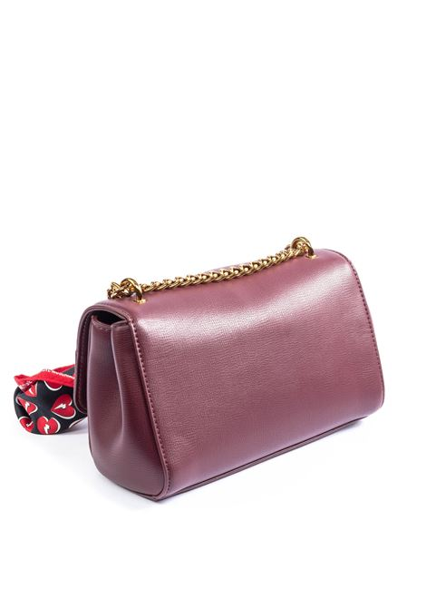 Tracolla media logo bordeaux LOVE MOSCHINO | Borse mini | 4236PELLE-552