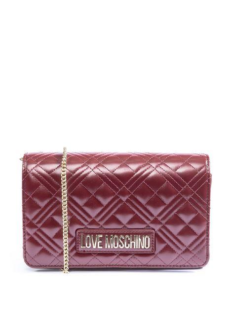 Tracolla mini logo matelassé bordeaux LOVE MOSCHINO | Borse mini | 4261QUILTED-552