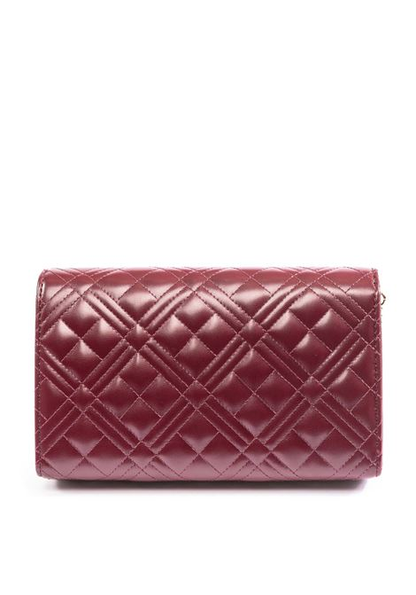 Love Moschino tracolla logo matelassé bordeaux LOVE MOSCHINO | Borse mini | 4261QUILTED-552