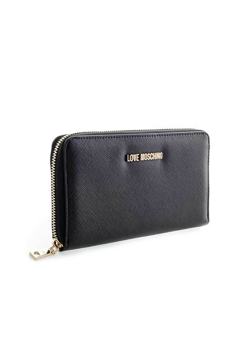 Love moschino zip around g nero LOVE MOSCHINO | Portafogli | 5552SAFFIANO-000