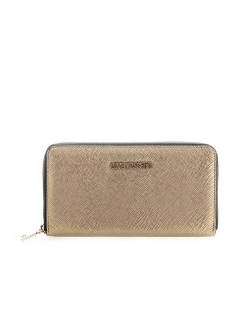 Love moschino zip around g oro LOVE MOSCHINO | Portafogli | 5552SAFFIANO-901