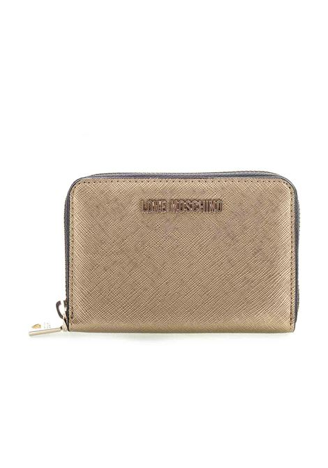 Love Moschino portafoglio zip around mini oro LOVE MOSCHINO | Portafogli | 5558SAFFIANO-901
