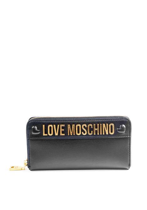 Love Moschino portafoglio zip cuori nero LOVE MOSCHINO | Portafogli | 5642PELLE-000