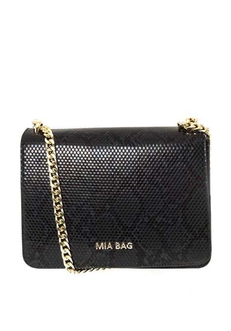 Mia Bag tracolla m pitone nero MIA BAG   Borse a spalla   410PYTHON-NERO