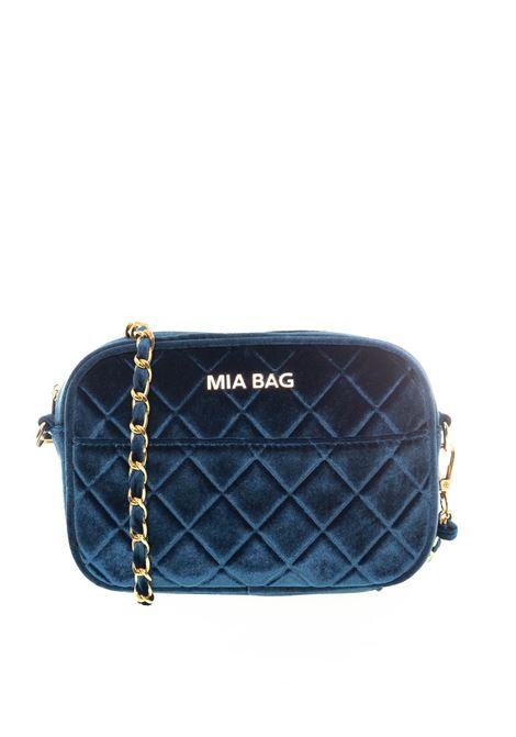 Mia Bag tracolla mini velluto blu MIA BAG   Borse mini   420VELVET-BLU
