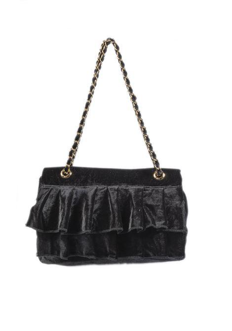 Tracolla media velluto nero MIA BAG | Borse a spalla | 521VELLUTO-NERO