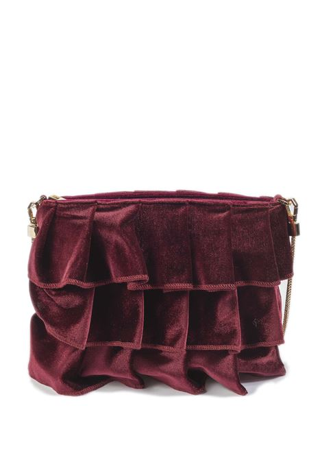 Tracolla zip velluto bordeaux MIA BAG | Borse mini | 522VELLUTO-BORDEAUX