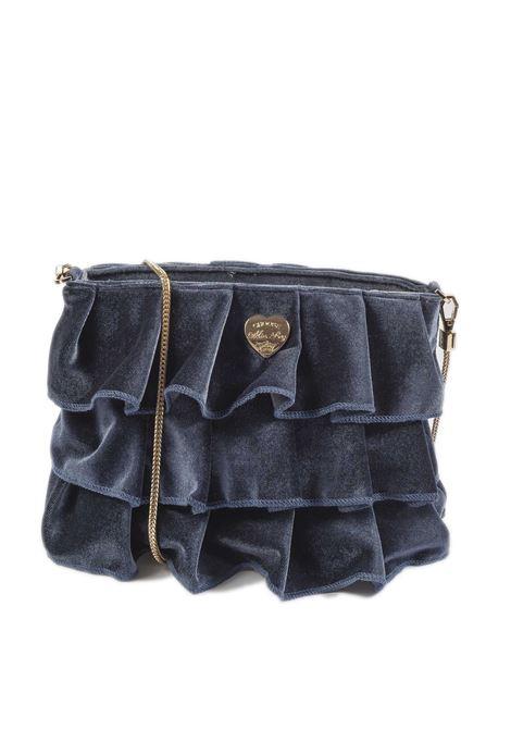 Tracolla zip velluto grigio MIA BAG | Borse mini | 522VELLUTO-GRIGIO
