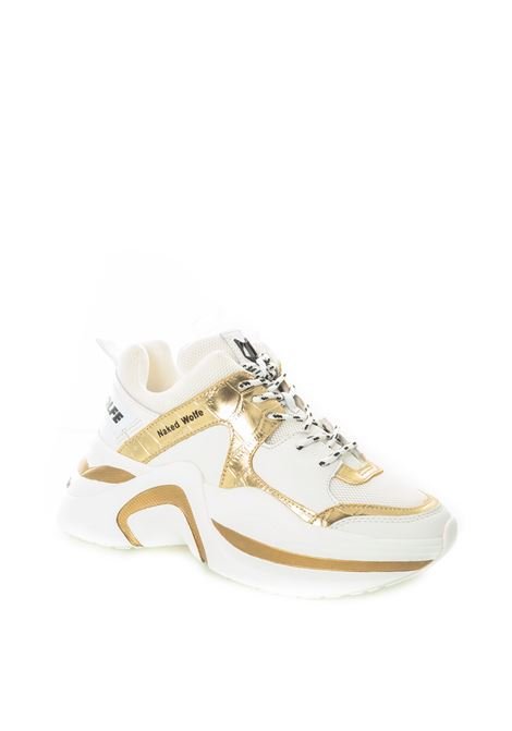 Sneaker Track bianco/oro NAKED WOLFE | Sneakers | TRACKPELLE/LAM-WHT/GOLD