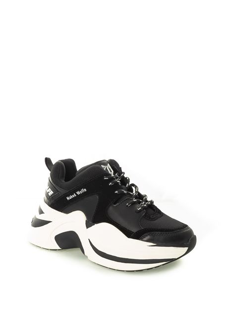 Sneaker Track nero NAKED WOLFE | Sneakers | TRACKTESS/PELLE-BLACK/WHT