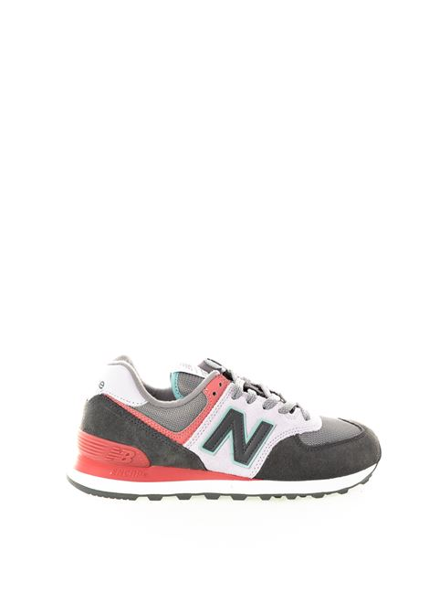 New balance 574 grigio multicolor NEW BALANCE | Sneakers | 574LBT