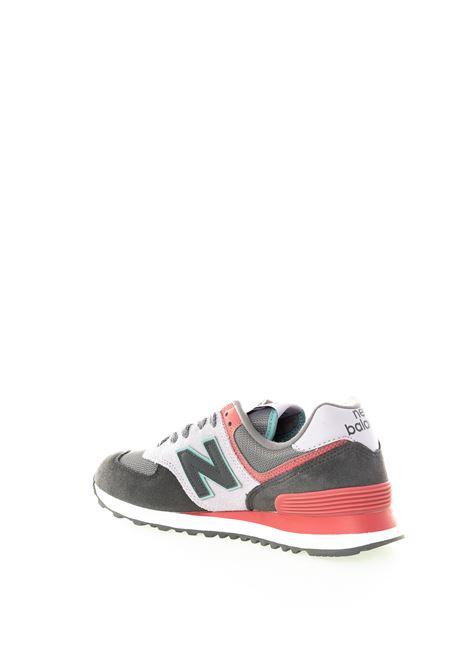New balance 574 grigio multicolor NEW BALANCE | Sneakers | 574LBT