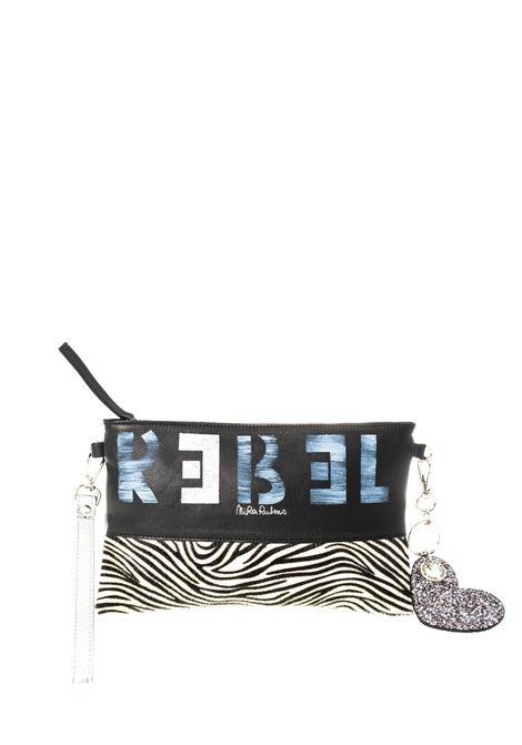 Nira Rubens pochette zebra nero NIRA RUBENS | Borse mini | MB10PELLE-ZEBRA SILVER