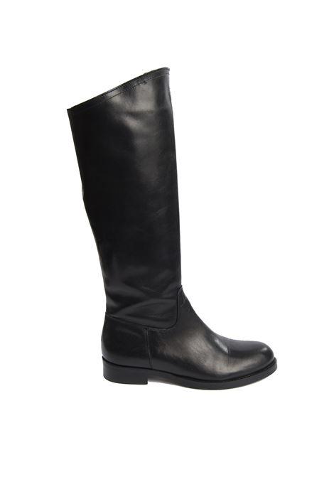 Stivale scollo nero  NUOVA CUOIERIA | Stivali | R601VIT-NERO