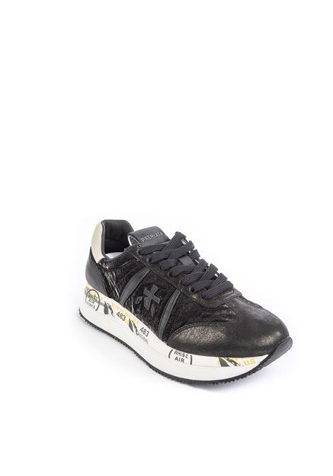 Premiata sneaker conny laminto nero PREMIATA | Sneakers | CONNYPEL/CAM-4821