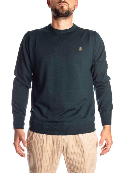 Maglione lana verde REFRIGIWEAR | Maglieria | M26900LANA-E03440