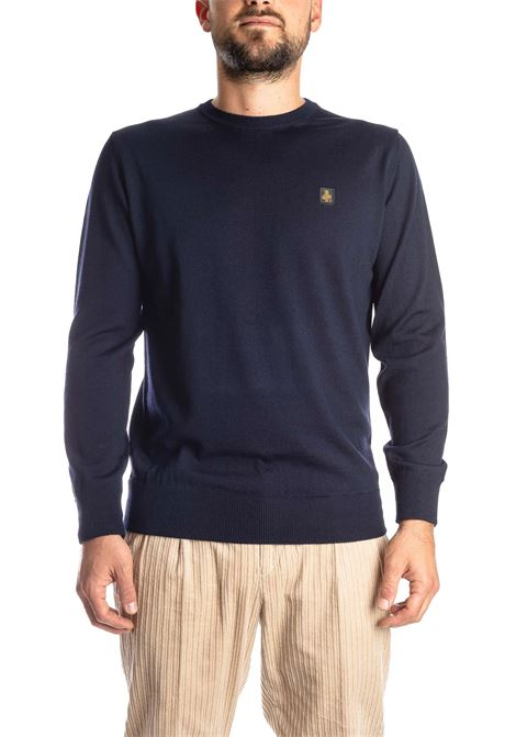 Maglione lana blu REFRIGIWEAR | Maglieria | M26900LANA-F03700