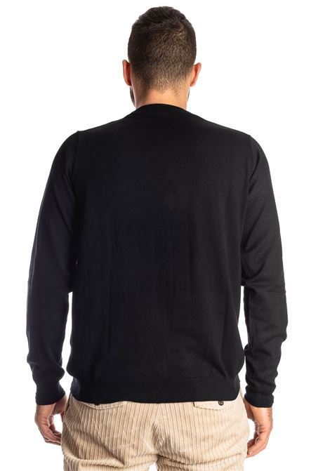 Maglione basic yarn nero REFRIGUE | Maglieria | 40568BASIC YARN-001