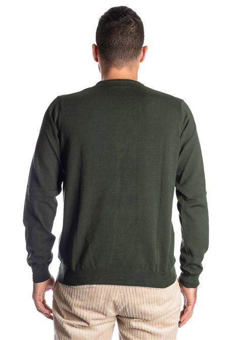 Maglione basic yarn verde REFRIGUE | Maglieria | 40568BASIC YARN-10861