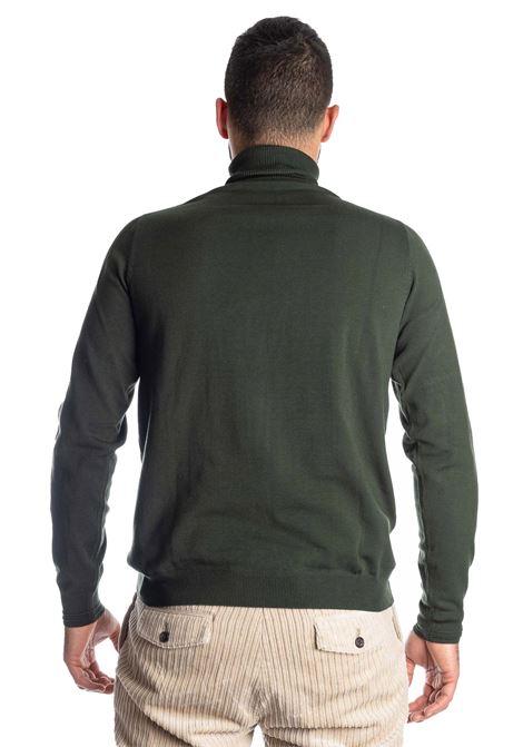 Maglione collo alto verde REFRIGUE | Maglieria | 40571COLLO-10861