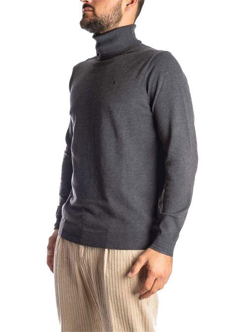 Maglione collo alto grigio REFRIGUE | Maglieria | 40571COLLO-11080