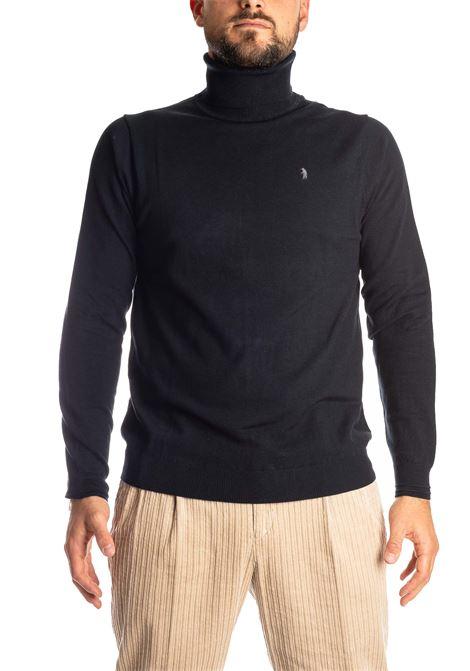 Maglione collo alto blu REFRIGUE | Maglieria | 40571COLLO-125