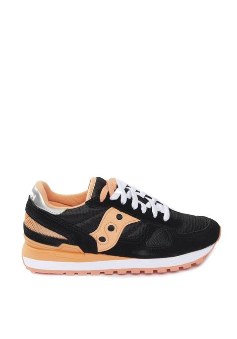 Shadow camoscio/mesh nero/arancione SAUCONY | Sneakers | 1108SHADOW-737