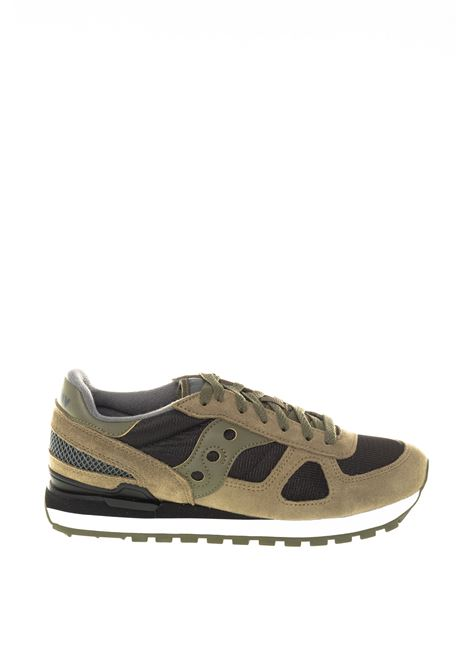 Sneaker shadow verde/nero SAUCONY | Sneakers | 2108SHADOW-655