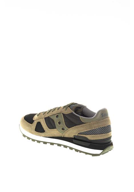Sneaker shadow verde/nero SAUCONY | Sneakers | 2108SHADOW-655