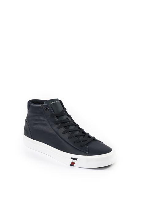 Sneaker mid flag blu TOMMY HILFIGER | Sneakers | 2984PELLE-BLU