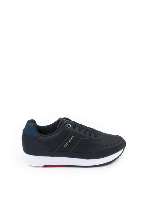 Sneaker logo blu TOMMY HILFIGER | Sneakers | 2996PELLE-BLU