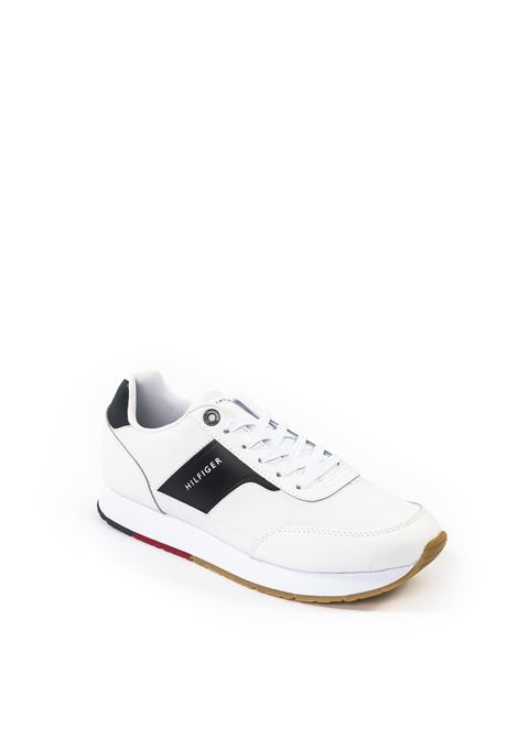 Tommy Hilfiger sneaker logo bianco TOMMY HILFIGER | Sneakers | 2996PELLE-WHITE