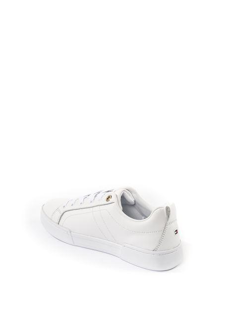 Tommy Hilfiger snaker logo bianco TOMMY HILFIGER | Sneakers | 5217PELLE-WHITE