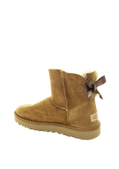Ugg mini bailey bow cuoio UGG | Tronchetti | MINI BAILEY BOWMONT-CHESTNUT