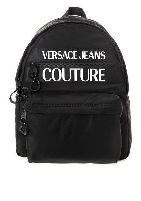 Versace jeans couture zaino nylon nero VERSACE JEANS COUTURE | Zaini | B6071593-899