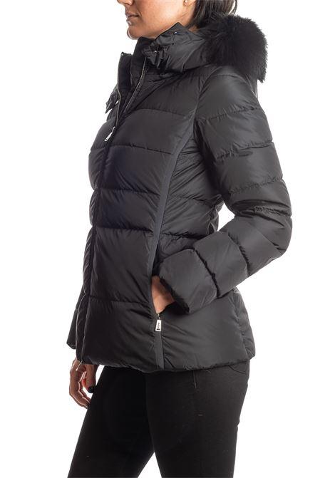 Piumino corto pelliccia nero ADD | Piumini | R003PIUMA-8506