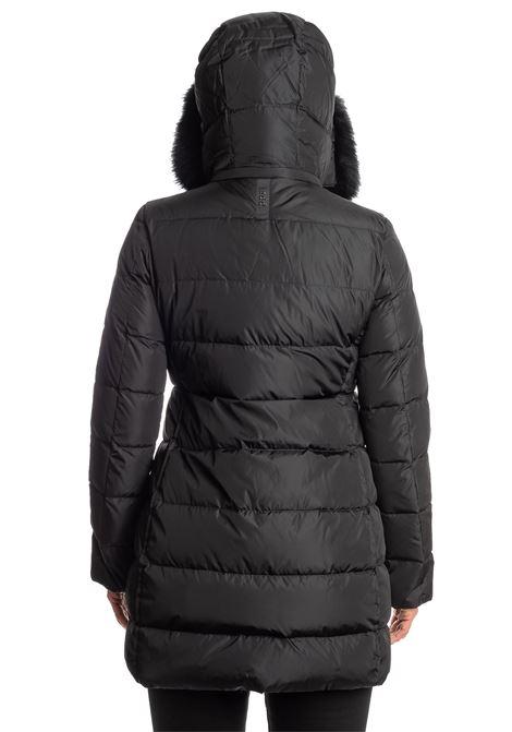 Piumino  lungo pelliccia nero ADD | Piumini | R012PIUMA-8506