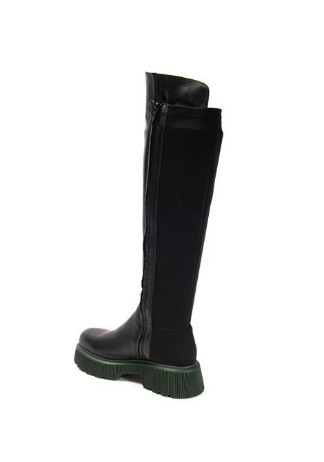Stivale t50 lycra/pelle nero ALBANO | Stivali | 2021VIT-NERO