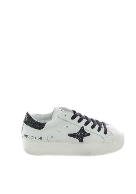 Sneaker glitter bianco/nero AMA BRAND DELUXE | Sneakers | 1905PELLE-BIANCO/NERO