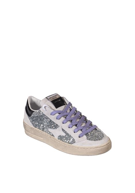 Sneaker glitter silver/viola AMA BRAND DELUXE | Sneakers | 1986GLITTER-ARG/VIOLA