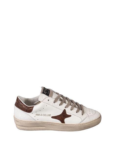 Sneaker deluxe bianco/cuoio AMA BRAND DELUXE | Sneakers | 1988PEL/CAM-BIANCO/CUOIO