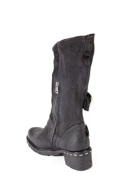 Stivale fibbia nero AS98 | Stivali | 52308PELLE-NERO