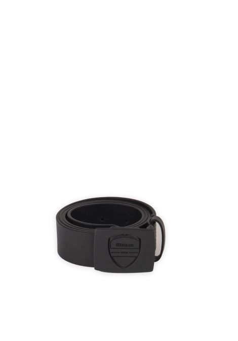 Cintura spin nero BLAUER | Cinture | SPIN01LEATHER-BLACK